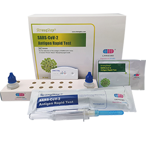 StrongStep®SARS-CoV-2抗原快速检测是一种快速免疫色谱分析方法,用于检测人喉/鼻咽拭子中SARS-CoV-2病毒的COVID-19抗原。